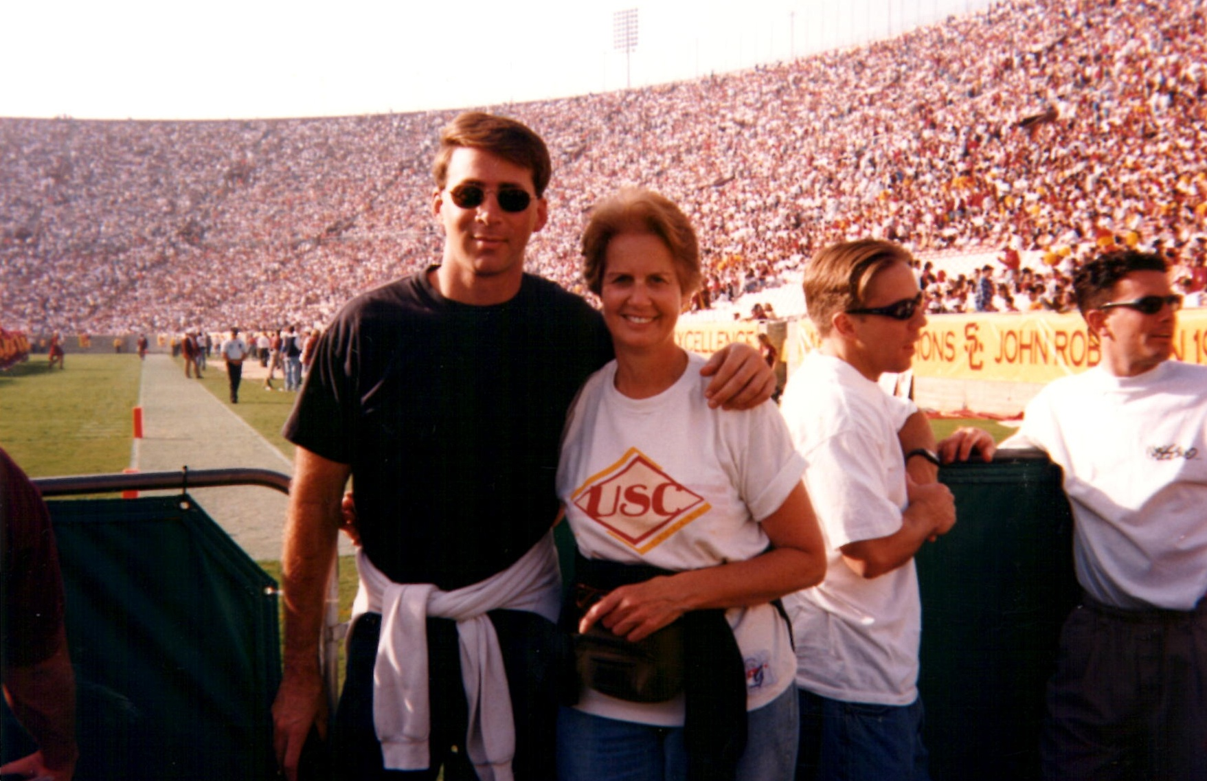 Mom and I at the Coliseum